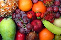 Fruit, kind of fruits. From tropical country stock images
