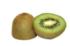 Fruit - Kiwi. Fresh kiwi fruit cut in half Royalty Free Stock Images