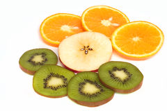 Fruit - kiwi, apple and orange Royalty Free Stock Photography