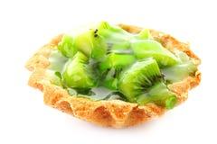 Fruit kiwi  cake Stock Photos