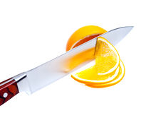 Fruit by knife. Stock Images