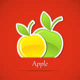 Fruit label Royalty Free Stock Images