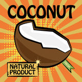 Fruit label, Coconut Stock Photos