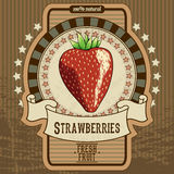 Fruit label. Label for fresh fruit, this illustration can be used for your design Stock Photo
