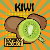 Fruit label, Kiwi Royalty Free Stock Photography