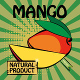 Fruit label, Mango Royalty Free Stock Image