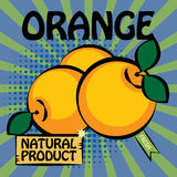 Fruit label, Orange Royalty Free Stock Photos