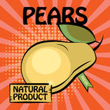 Fruit label, Pears Royalty Free Stock Photography