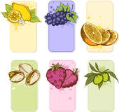 Fruit labels Stock Images