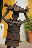 Fruit Lady Statue Royalty Free Stock Photo