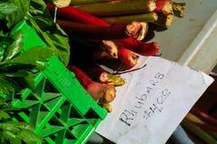 Fruit in landbouwersmarkt het plaatsen Royalty-vrije Stock Foto's