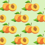 Fruit and leaves of peach Royalty Free Stock Image