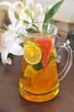 Fruit lemon tea Stock Images