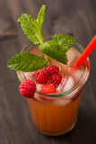 Fruit lemonade. Cold beverages with mint and fruit royalty free stock photos