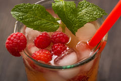 Fruit lemonade. Cold beverages with mint and fruit royalty free stock image