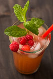 Fruit lemonade. Cold beverages with mint and fruit stock photos