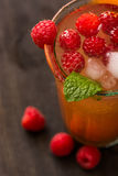 Fruit lemonade. Cold beverages with mint and fruit royalty free stock images