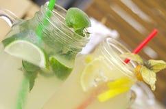 Fruit lemonade royalty free stock photography