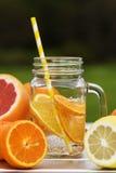 Fruit lemonade in jar Royalty Free Stock Image