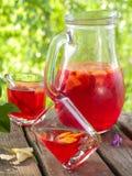 Fruit lemonade or Sangria Stock Photos