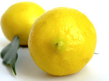 The fruit  lemons. The depth of sharpness Royalty Free Stock Photography