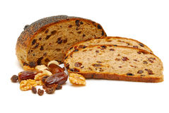 Fruit loaf isolated Stock Images