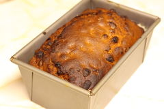 Fruit loaf in tin C Stock Photography