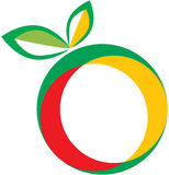 Fruit logo. Vector illustration of fruit logo Stock Photos