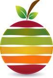 Fruit logo. Illustration art of a fruit logo with  background Stock Photography
