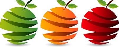 Fruit logo. Illustration art of a fruit logo with isolated background Royalty Free Stock Photo
