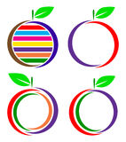 Fruit logo. Simple illustration of fruit logo on white background Royalty Free Stock Image