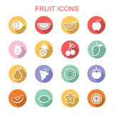 Fruit long shadow icons Stock Image