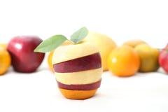 Fruit mélangé frais sur le fond de whith image stock