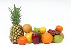 Fruit mélangé sur le fond blanc Photos libres de droits