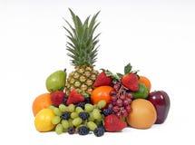 Fruit mélangé sur le fond blanc Images stock