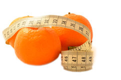 Fruit mûr avec un régime de mesure de bande Photo libre de droits