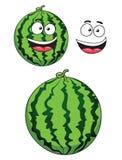 Fruit mûr de pastèque de bande dessinée Image libre de droits