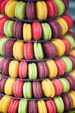 Fruit macarrons macaroons in beautiful display Royalty Free Stock Images