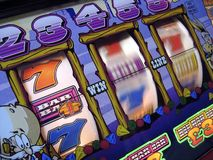 Fruit machine. Image of fruit machine; motion blur/differential focus Royalty Free Stock Image