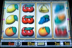 Fruit machine. Screen of an fruit machine Stock Image