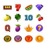 Fruit Machine Icons Collection Royalty Free Stock Images