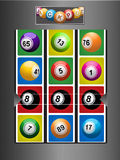 Fruit Machine and jackpot background Royalty Free Stock Images