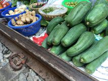Fruit at the Maeklong Railway Market Royalty Free Stock Images
