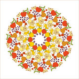 Fruit mandala Royalty Free Stock Image
