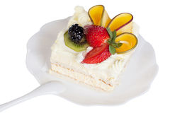 Fruit mango cake isolated Stock Photos
