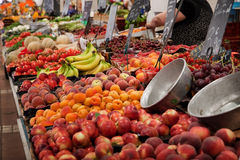 Fruit market. Fresh fruit and vegetable on market Royalty Free Stock Images