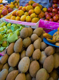 Fruit Market. A small fruit stand inside a farmers market in a rural area of Mexico Stock Images