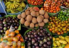 Fruit in a market. Fruit for sale in a market in Antigua, Guatemala Royalty Free Stock Photo