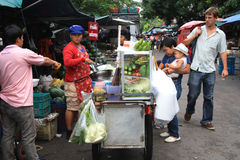 Fruit market in Bangkok Stock Photography
