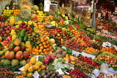 Fruit market in Barcelona Royalty Free Stock Photo